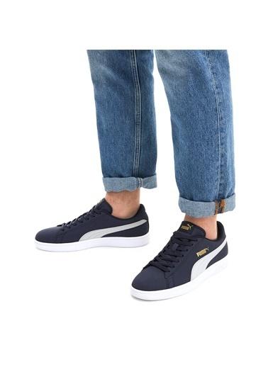 Puma Unisex Mavi Smash V2 Buck Sneakers 365160 Renkli